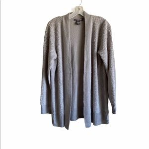 Kate & Mallory Gray Knit Open Front Cardigan XL